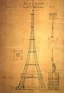 Koechlin's first drawing for the Eiffel Tower PARIS BY EMY Paris Trip Planner
