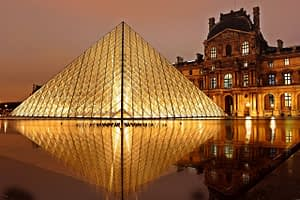Paris by night, Louvre museum, by PARIS BY EMY
