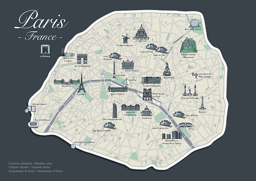 Map of Paris, Paris tour package by PARIS BY EMY
