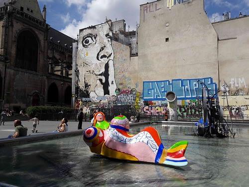 Fontaine Stravinsky Pompidou Saint Merry church Private Tour Guide PARIS BY EMY